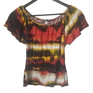 Women's colourful cropped tie dye t-shirts